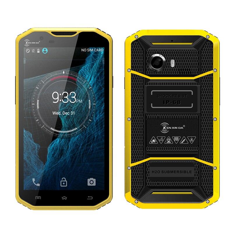 Kenxinda W8 dual SIM dual camera 5 5 smartphone IP68 waterproof 4G Android 5 1 Octa