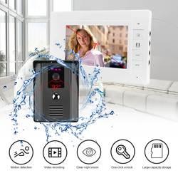 """LESHP 7 """"цвет видео домофон двери внутреннее ночное видение камера дверные звонки комплект для дома квартира определение движения"""