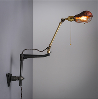 OCWhite American antique brass vintage industrial style coffee diffuse lighting Edison artistic Iron wall lamp + EMS/UPS/DHL