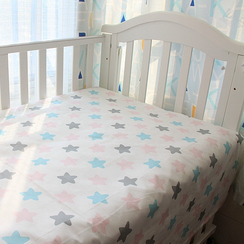 Kawaii Infant Bed Sheets For Baby 100 Cotton Bed Sheets Cloud Star Pattren 9Designs In Stock