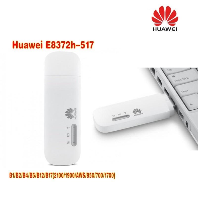Lot of 2pcs Huawei E8372h-517 LTE FDD Band B1/B2/B4/B5/B12/B17(2100/1900/AWS/850/700/1700)MiFi modem stick lot of 2pcs huawei e8372h 517 lte wifi stick plus 2pcs antenna