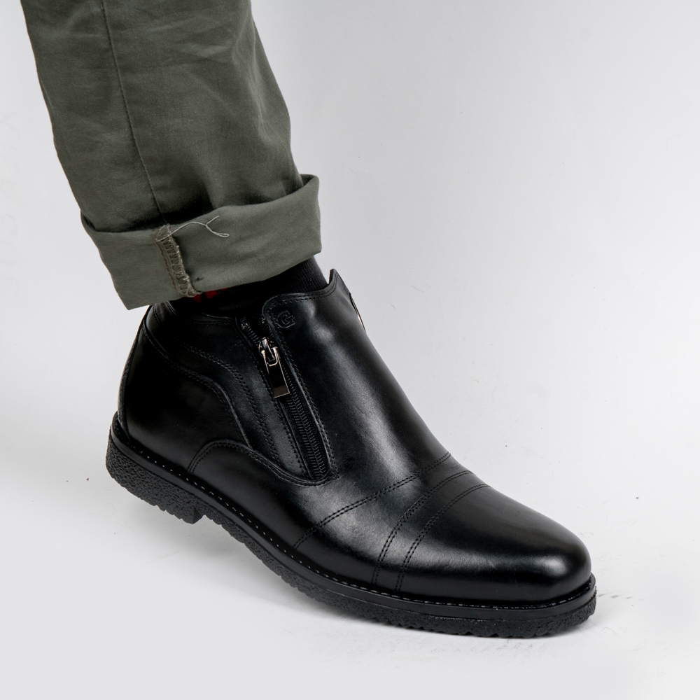 DOF Bull En Cuir Hommes Bottes Printemps Automne Et Hiver Homme Chaussures Bottines Hommes de Neige Chaussures De Travail Plus La Taille 39-46 000-005
