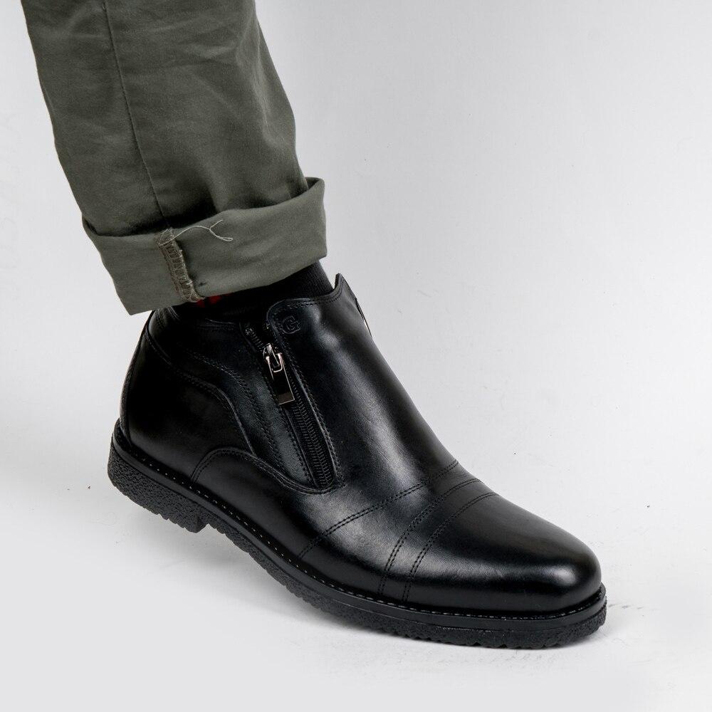 DOF Bull botas de cuero para hombre primavera Otoño e Invierno zapatos de hombre Botas de tobillo zapatos de nieve para hombre talla grande 39-46 000-005