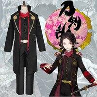 Япония webgame Touken Ranbu kashuu kiyomitsu Косплэй костюм для взрослых Прохладный Человек наряд Костюмы Косплэй костюм самурая форма комплект