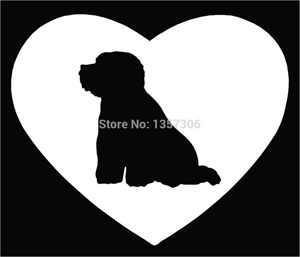 new dog lovers pet adoption bichon frise car window sticker vinyl decal 9 colorschina - Frise Vinyle
