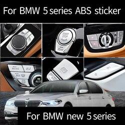 ABS plastikowe naklejki centrum wylot powietrza osłona ramy plastikowe głośności ustawić przełącznik pokrowiec na BMW nowy 5 serii 525li 530li 2018-2019