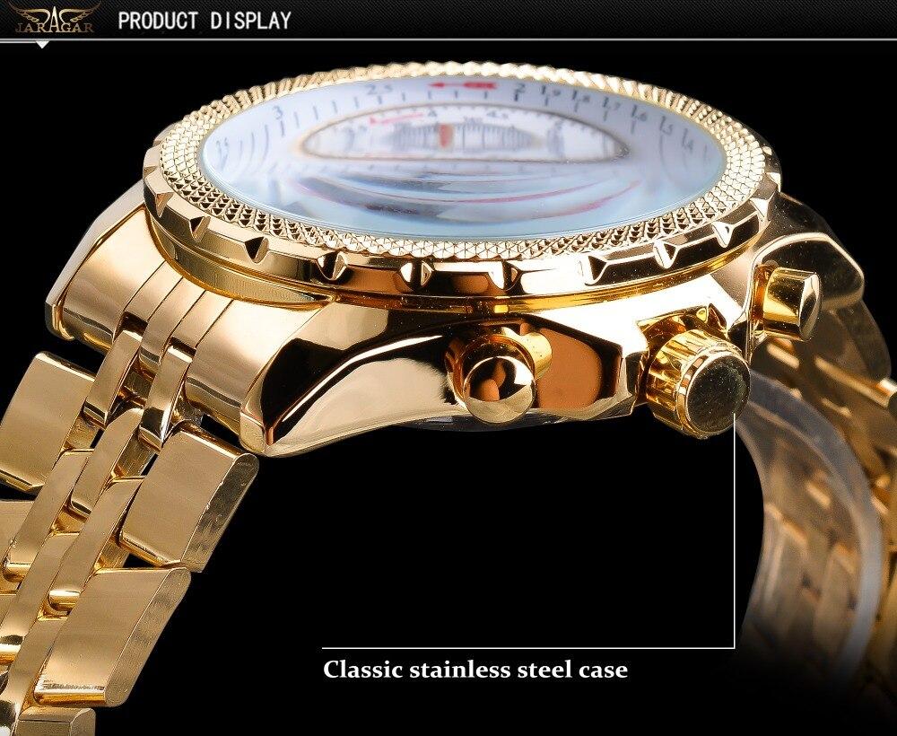 grande dial calendário função relogio masculino relógios mecânicos aço cinta relógio