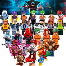 Building Blocks Scarecrow Batman Movie Joker Harley Quinn Bruce Wayne Man-Bat Star Wars Super Hero Bricks Kids DIY Toys Hobbies