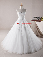 2013 Free Shipping A Line Affordable Tulle Sweetheart Appliques Wedding Dresses Online Store Jj124