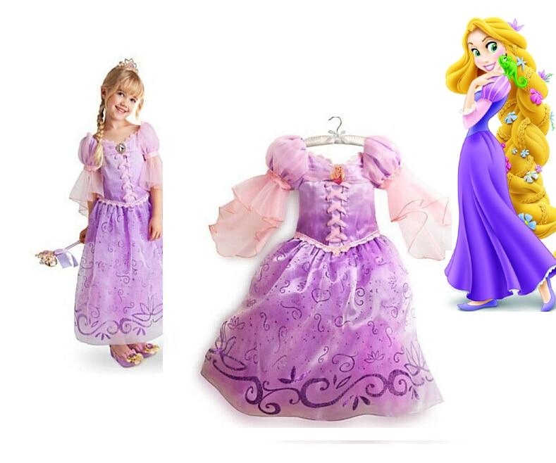 più colori cerca il meglio bambino hot sale Rapunzel princess Costume purple dress for kids ...
