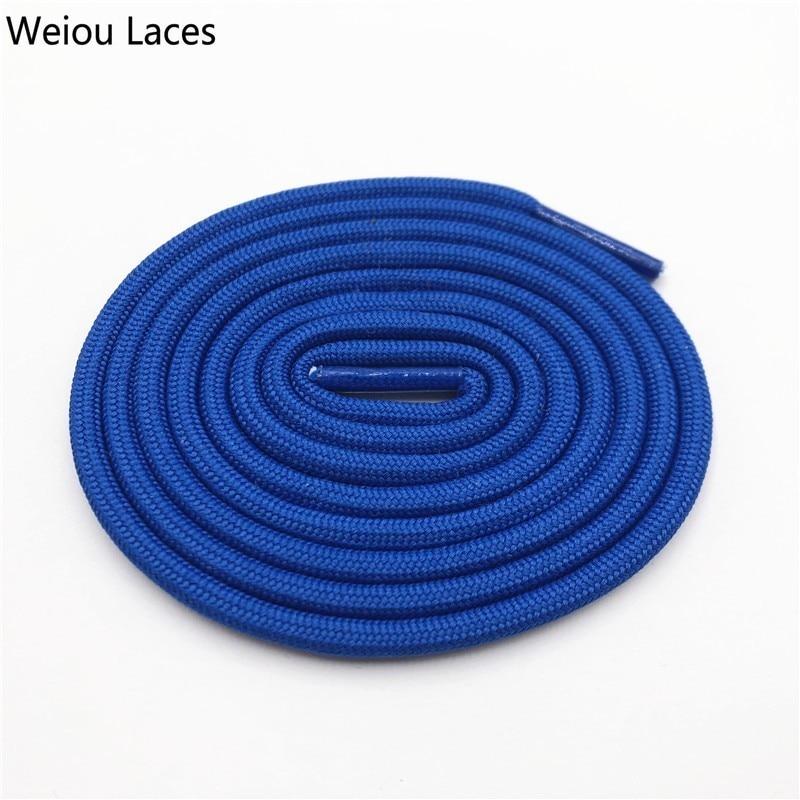 Weiou 0,5 см круглые спортивные шнурки из полиэстера толстые походные шнурки одежда веревка для скалолазания шнурки для ботинок Детские мужские - Цвет: 2707Sapphire