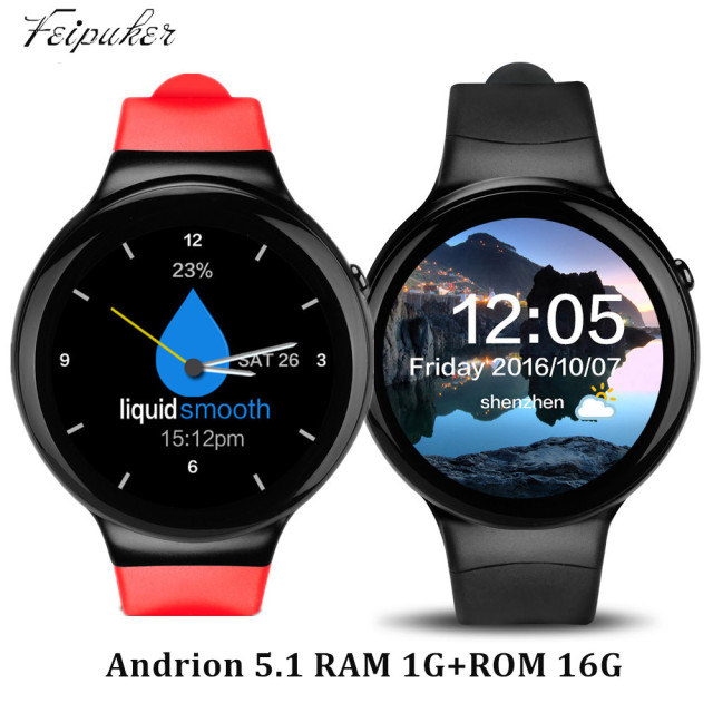 Feipuker i4 bluetooth smart watch android 5.1 os mtk6580 3 г wi-fi gps сердечного ритма smartwatch поддержка sim-карты голосового управления