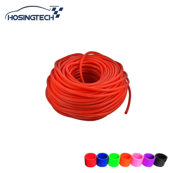 HOSINGTECH-Universal 50M Super Vacuum Silicone Hose ID: 4mm Blue 100% Silicone material