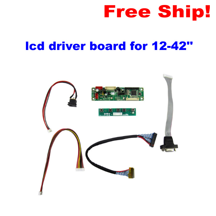 Low price universal Programmer lcd driver board for 12-42 LCD TV and Laptop screen general kit