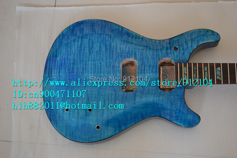 free shipping new unfinished electric guitar in blue with Choi bei fingerboard made in China diy your guitar +foam box F-1200  цены онлайн