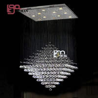 Hot Sales New Design LED Crystal Light Chandelier Living Room Lamps Lustres Modern Home Lighting