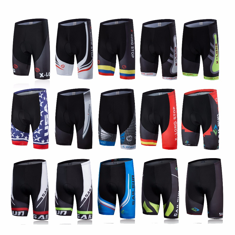 2019 Summer Men Cycling Shorts Bike Clothing Shorts MTB Road Gel Pad Coolmax Breathable Ropa Ciclismo Sports Bicycle Shorts