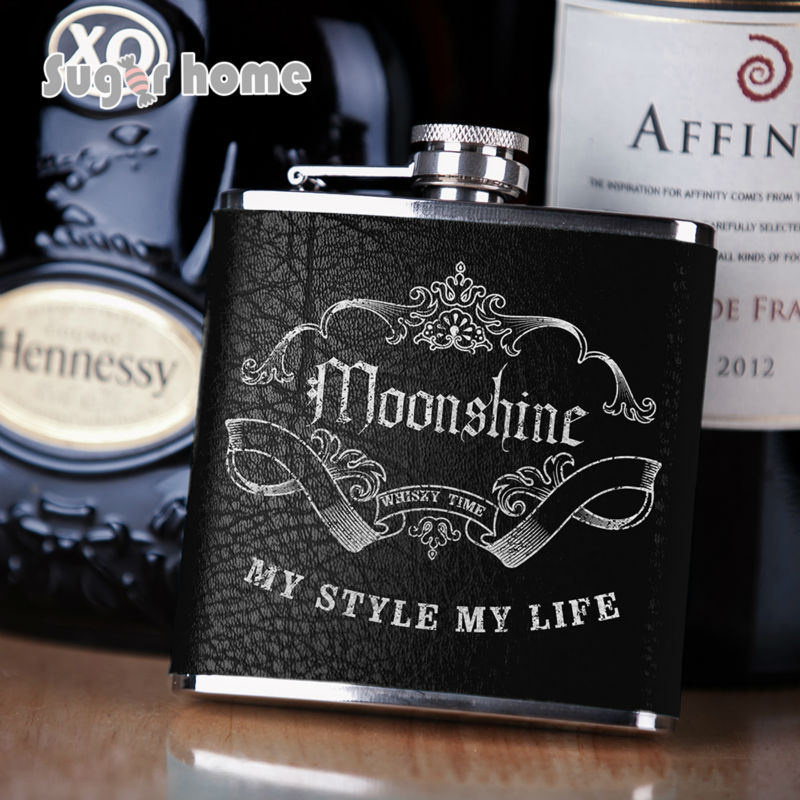 Mealivos Portable 6 Oz Stainless Steel Hip Flask Drinkware