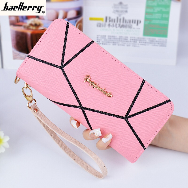 Baellerry Long Leather Women Wallets Women Purse Female Purse Clutch Bag Credit Card Holder Famous Brand Large Capacity B-239 baellerry women wallets business fashion leather long women purse credit card holder coin purses solid lady clutch free shipping