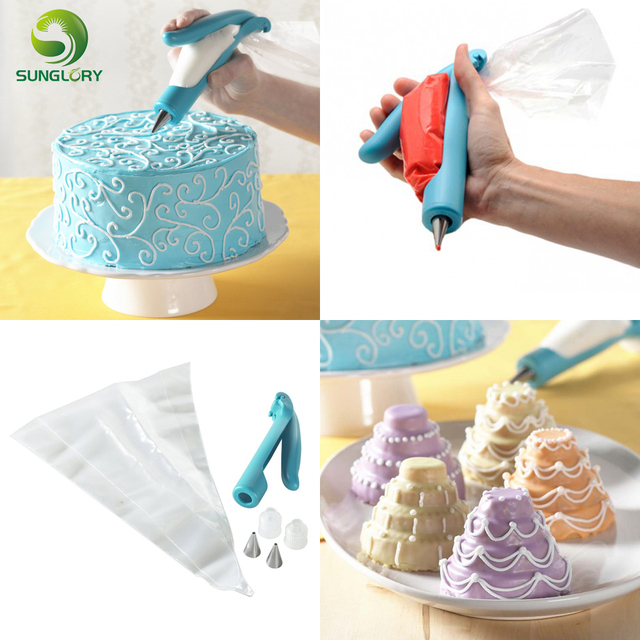Deco Icing Pen With Pastry Bag And Coupler Tip 3