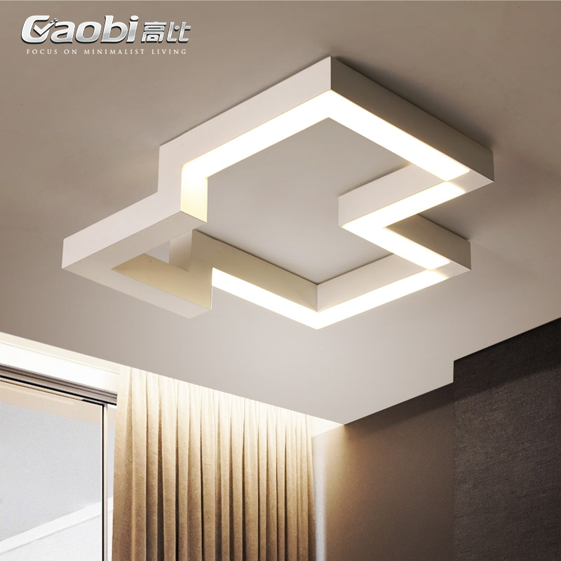 LED living room ceiling lights creative fixtures illumination geometry ceiling lamps home modern bedroom ceiling lighting купить недорого в Москве