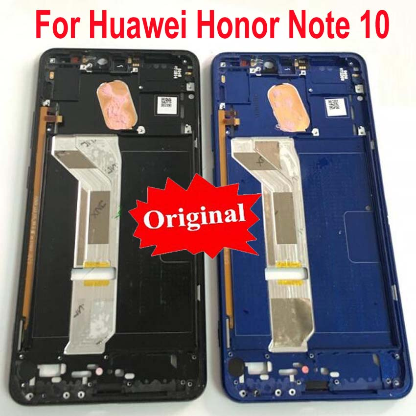 Original LCD Screen Supporting Housing Front Faceplate Bezel / Middle Frame with Power Buttons For Huawei Honor Note 10 Note10Original LCD Screen Supporting Housing Front Faceplate Bezel / Middle Frame with Power Buttons For Huawei Honor Note 10 Note10