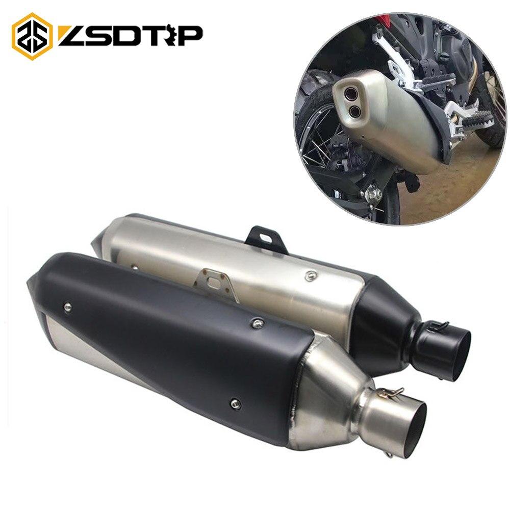 ZSDTRP-Moto d'échappement 60mm tuyau d'échappement Moto pour BMW G310 GS G310R R1200 GS pour Honda NC750X CBF1000 CRF1000L