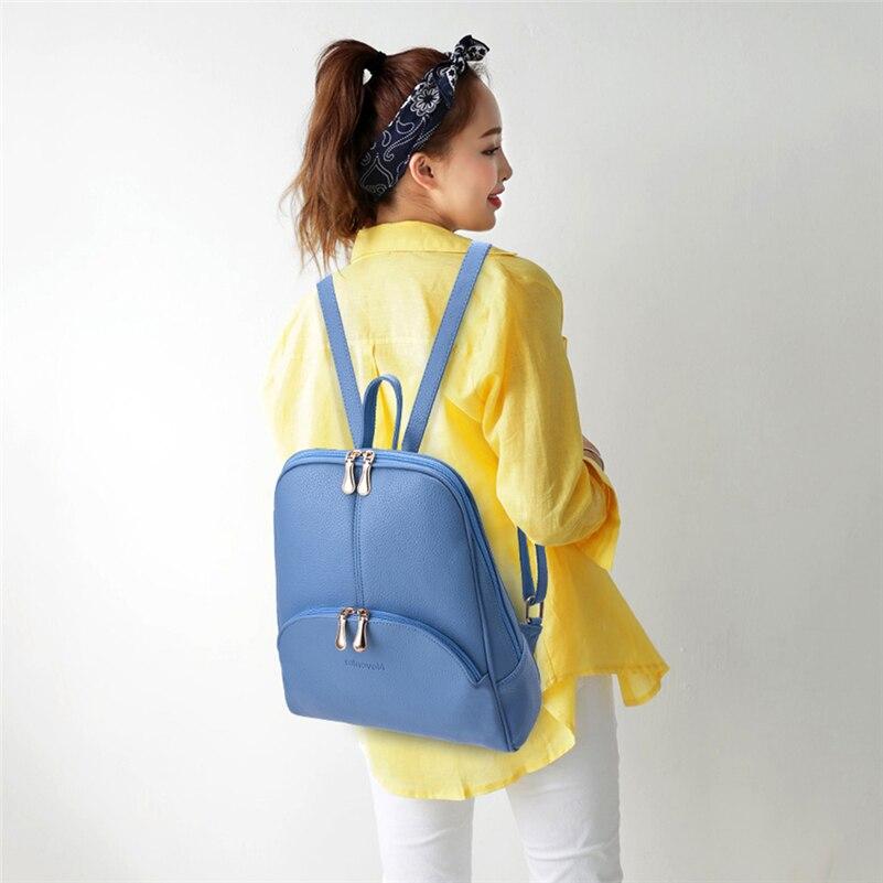 HTB1BLB4S4YaK1RjSZFnq6y80pXaw Nevenka Leather Backpack Women Solid Backpacks Light Weight Bag Cute Top Handle Backpacks for Girls Mini Backpack Female Bagpack