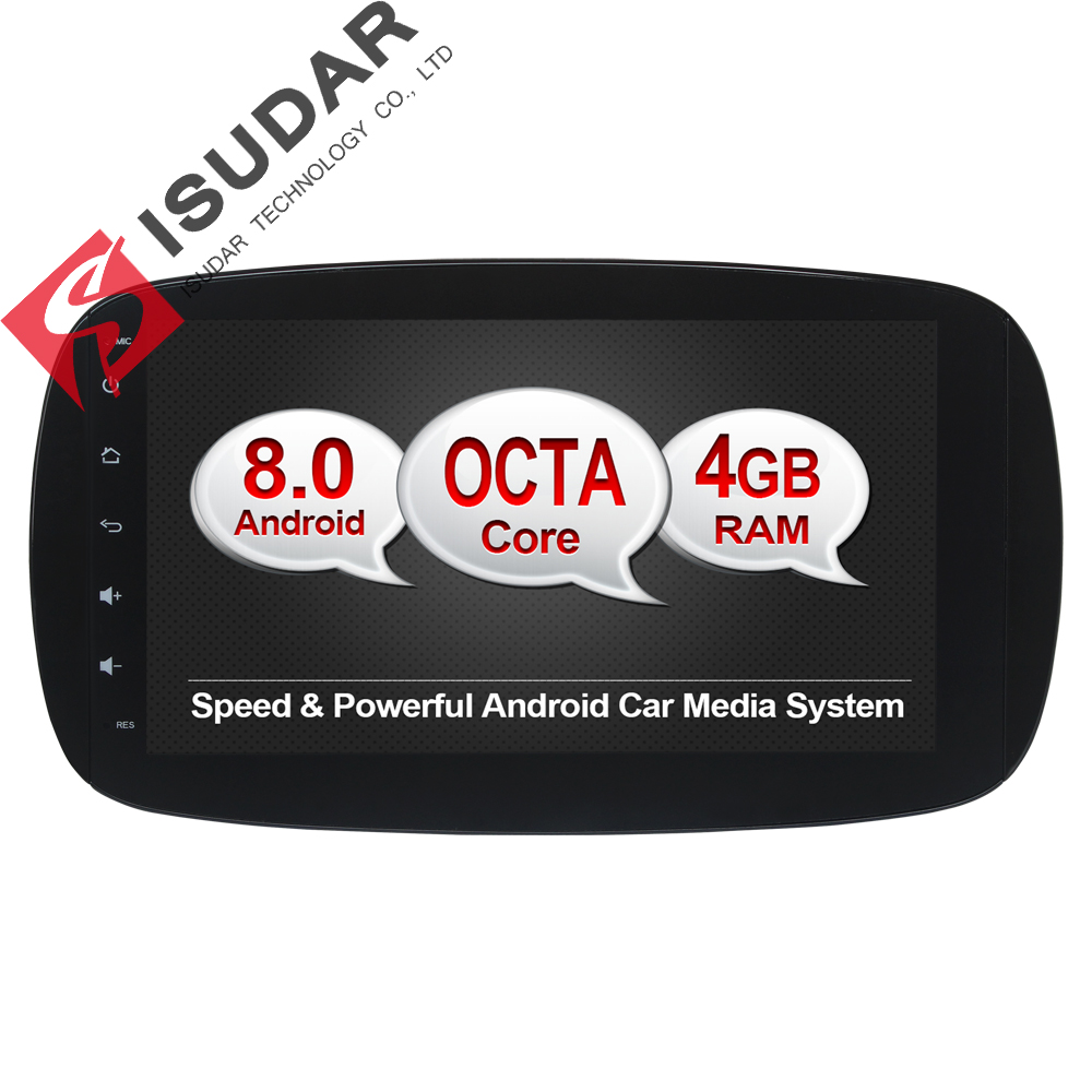 Андроид 8.0 9-дюймовый DVD-плеер автомобиля стерео системы для MERCEDES/BENZ/смарт-2016 - Окта ядра 4г оперативки WiFi Радио FM/АМ-GPS навигация