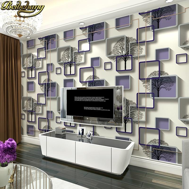 Beibehang boîte métallique de luxe abstrait arbre papel de parede 3d papier peint pour murs salon Vintage papier peint rouleau autocollants
