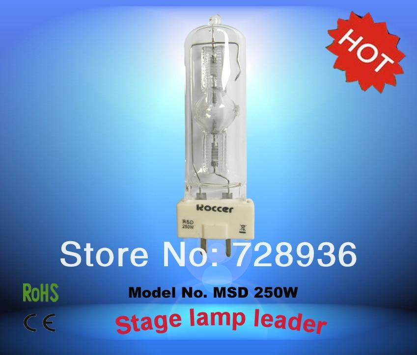 ROCCER MSD250W GY9.5 Metal Halide Lamp 250w Stage Light 250 Lamp Msd 250 6000k Msd250