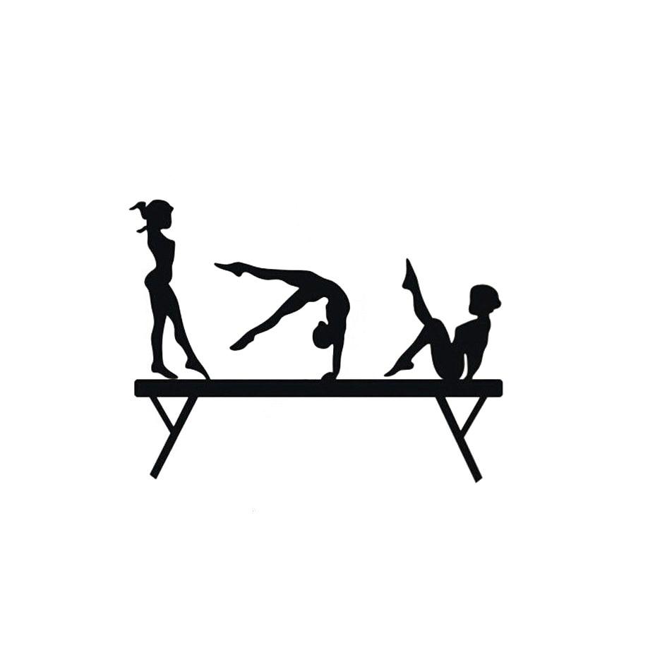 1291cm three girls gymnastics balance beam of car