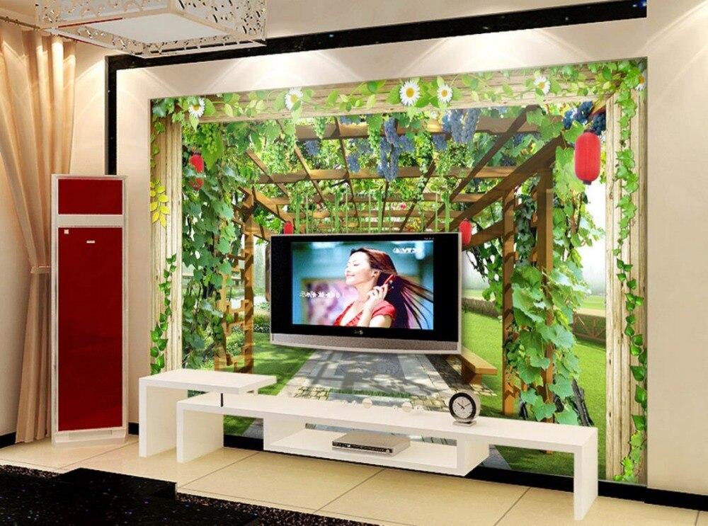 Custom 3d wallpaper murals fruit stand modern 3d wall wallpaper murals TV backdrop wall-in ...