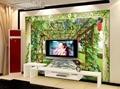 Personalizado 3d papel de parede murais frutas stand moderno 3d papel de parede murais de parede TV cenário