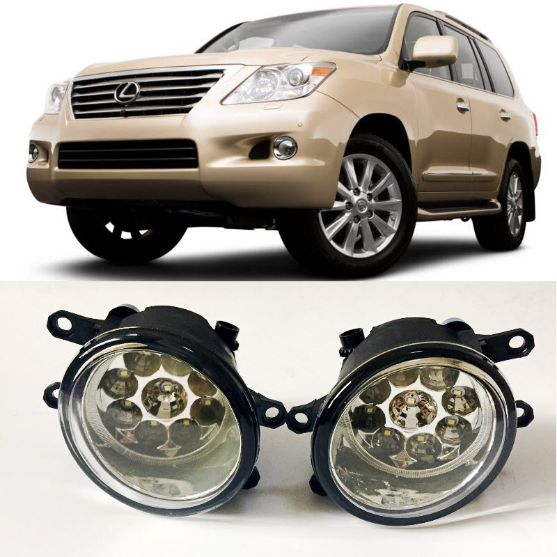 For <font><b>Lexus</b></font> <font><b>LX570</b></font> 2008-2012 2013 2014 2015 9-Pieces Leds <font><b>Fog</b></font> <font><b>Lights</b></font> H11 H8 12V 55W Halogen LED <font><b>Fog</b></font> Head Lamp Car-Styling image