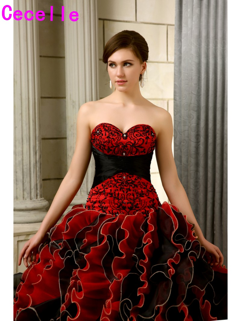 9cd5cb86af8 Gothic Wedding Dresses Red And Black - Gomes Weine AG