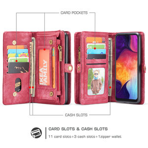 Image 5 - CaseMe Original Wallet Phone Case For Samsung Galaxy A50 Luxury 2 in 1 Multi function Detachable Leather For Samsung A 50 Cases