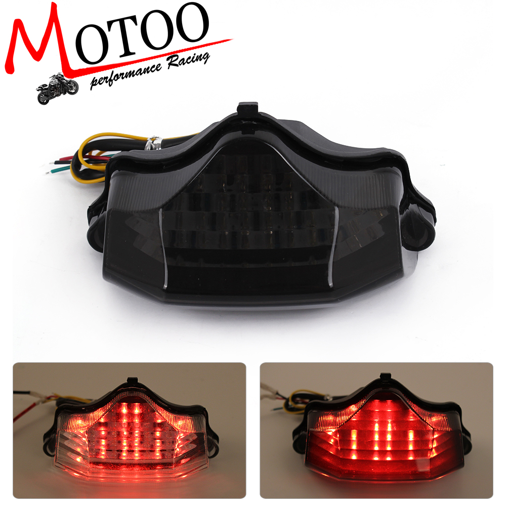 Motoo -Motorcycle LED Tail Brake Turn Signal Integrated Light For Yamaha FZ600 FZ6 04-09