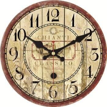 Relojes de pared grandes clásicos sala de estar silenciosa Oficina ...