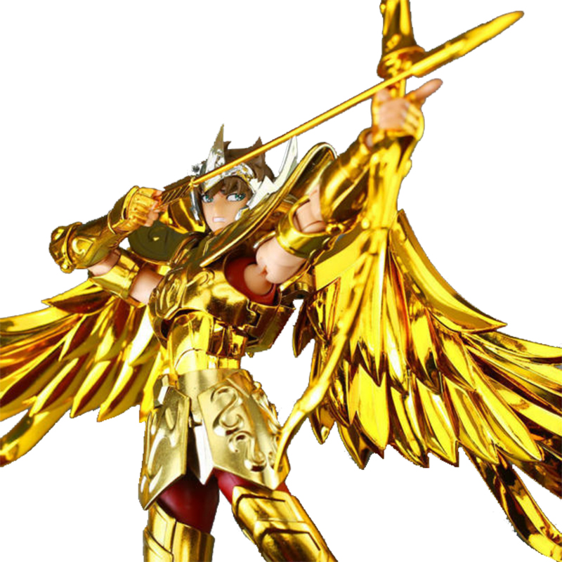 MC Metal Action Figure Anime Saint Seiya God Gold Myth Cloth Sagittarius Aiolos figure Collectible Model Toy anime action figure saint seiya myth cloth nordic god fighter alkaid red meem metal armor collectible model