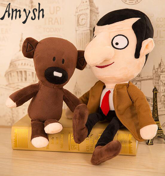 Amysh Hot 30cm soft plush doll creative Mr Bean teddy bear cute cartoon plush doll funny novelty doll baby toys gifts for kids 30cm cut the rope om nom plush cartoon doll toys big size om nom plush cartoon doll toys soft stuffed cute funny game doll toy