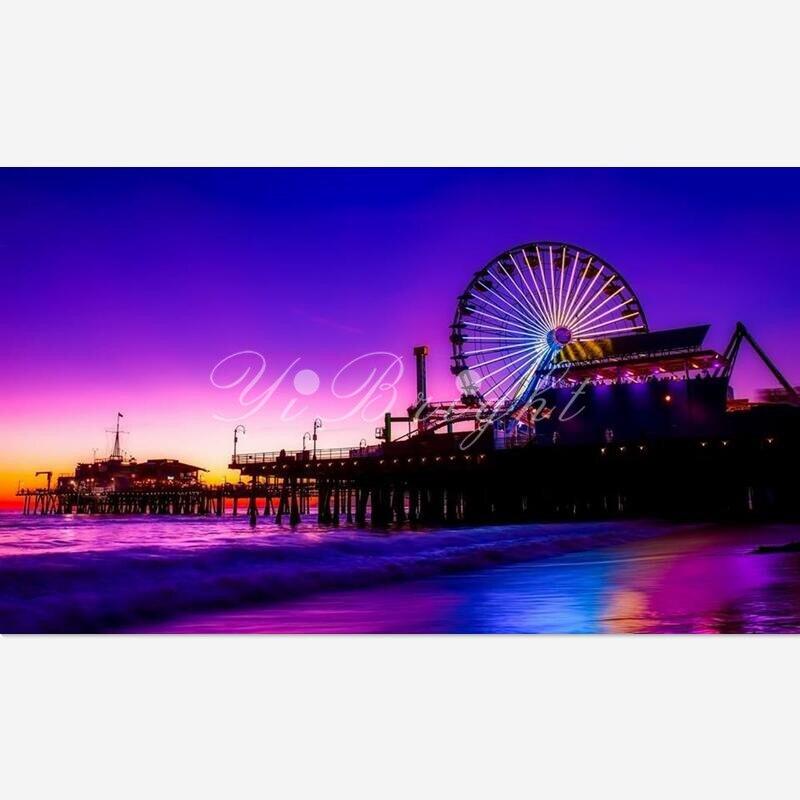 5D поделки алмазов картина Santa Monica Pier Вышивка крестом Рукоделие Home декоративные полный квадратный Алмазная вышивка Главная искусств LRR