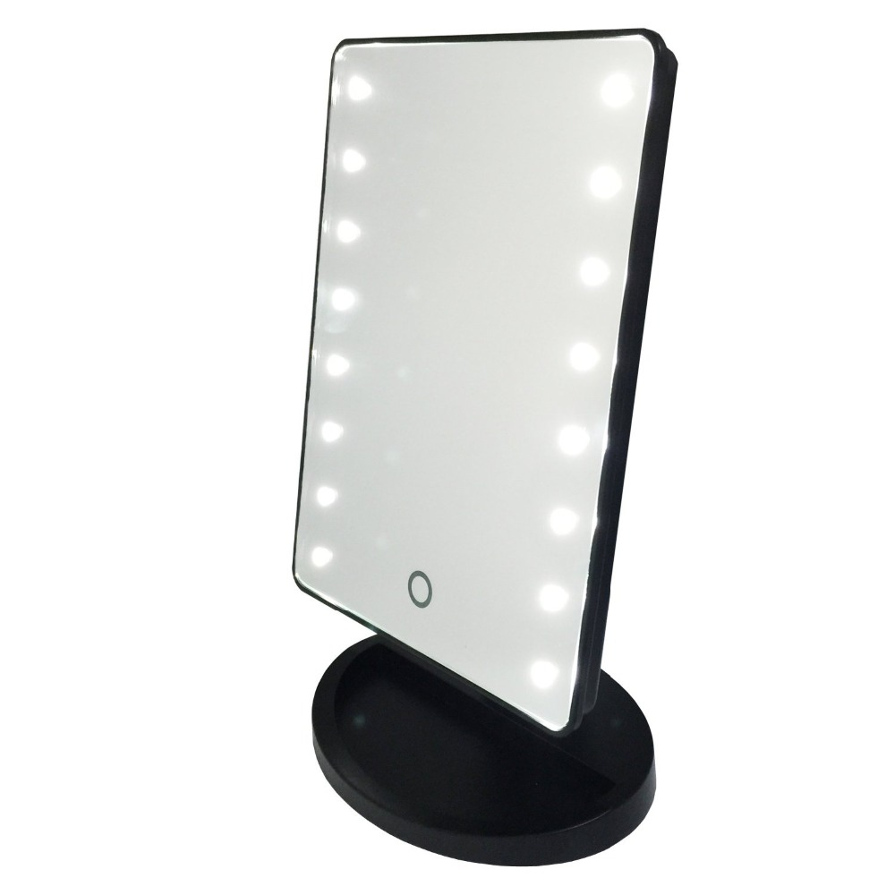 Gotofine Battery Operated Touch Screen Led Lighted Cosmetic Makeup Mirror With Lights Portable 3 Inch 10x Magnification In Mirrors From