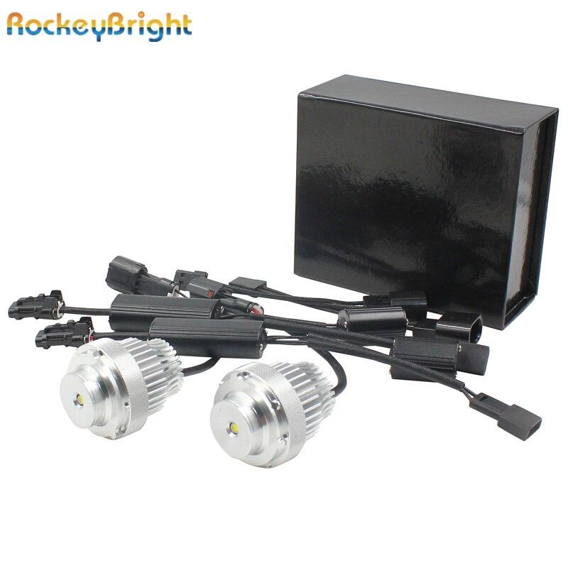Rockeybright 20 W E60 E61 LED marqueur d'ange avec Crees LED pour BMW E60 E61 LCI phare halogène Non projecteur LED yeux d'angle