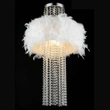 16 Crystal White Feather Hanging Bedroom Pendant Lamp Luxury Living Room Pendant Lights Dining Room Restaurant Pendant Lamps lamps pendant light luxury fashion brief crystal lamp bedroom lamp restaurant lamp x07