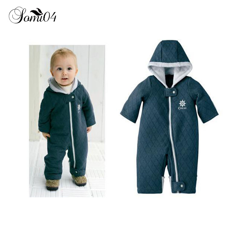 New Autumn Winter Baby Coveralls Thicken Cotton-padded Baby Girl Clothes Casual Solid Baby Rompers High Quality Baby Boy Clothes tribros winter style baby clothes baby girl boy clothes cute bear hoodie thicken jumpsuits baby costume coveralls rompers