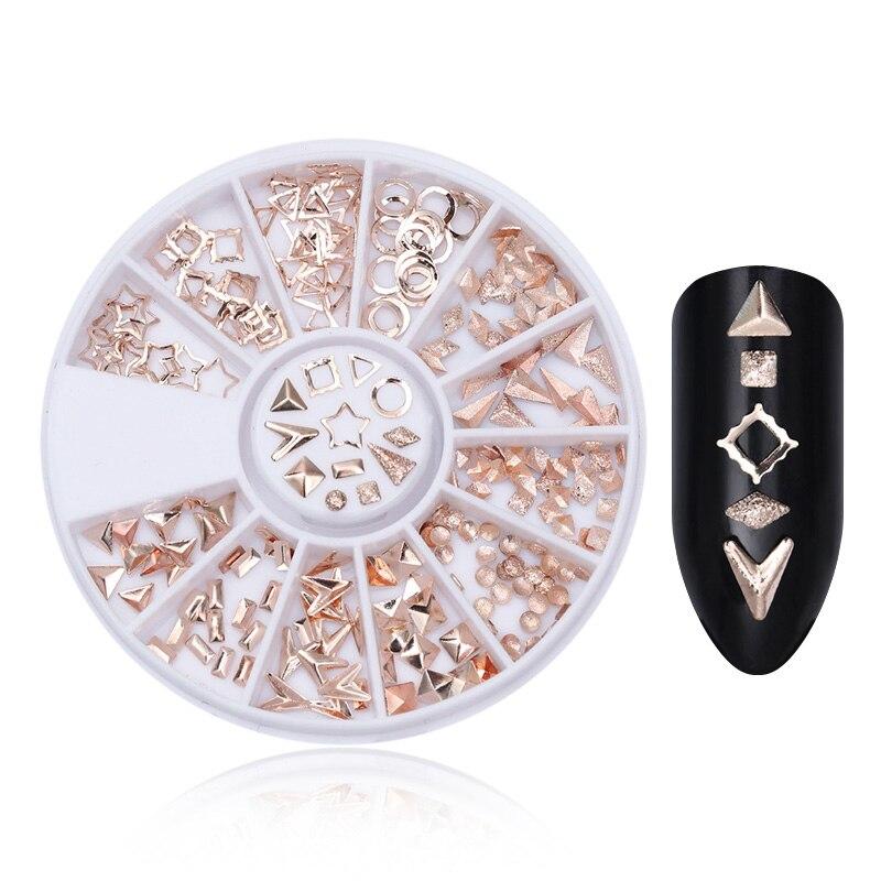Смешанный цвет камень-хамелион Стразы для ногтей маленькие Необычные бусины Маникюр 3D дизайн ногтей украшения в колесиках аксессуары - Цвет: Pattern 9