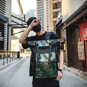 Image 1 - Rétro unisexe sac à dos grande capacité en cuir PU haute qualité femmes sac à dos tourisme jeunesse multi fonction sac angleterre Style