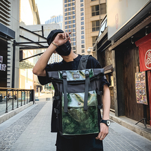Retro Unisex Backpack Large Capacity PU Leather High Quality  Women Bagpack Tourism Youth Multi function Bag England Style