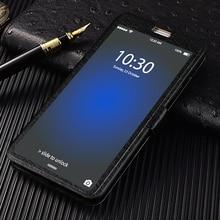QIJUN Flip Cover For Samsung Galaxy A7 2018 A750 A 7 2017 A720 2016 SM-A710F a7 A700 Stand Front Transparent View Window Case стоимость